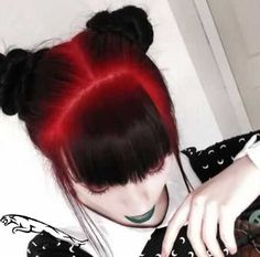 Hair balayage black red 48 ideas Red Hair red and black hair Hair Color Purple, Hair Color For Black Hair, Cool Hair Color, Hair Colors, Red Black Hair, Color Red, Black Bun, Magenta Hair, Colour