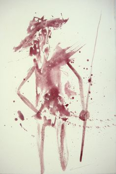 Tinta de Grana Cochinilla sobre Papel #CruzVargas