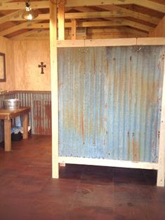 Blessed Oak Farm Groom's Room #rustic bathroom