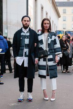 street style paris fashion week twosomes