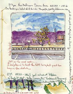 road-trip-fire-department-only-ink-watercolor-sketchbooks-chris-carter-artist-030712-web | by ChrisCarterArt