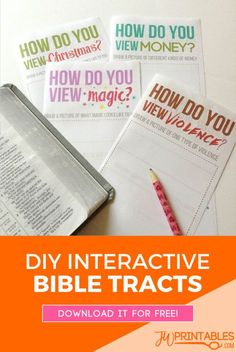 (not to be placed) a very cute mini bible tract activity! A fun way to move your child to look up scriptures, explain their beliefs and make their own version of a tract. #jw #jworg #jwchildren
