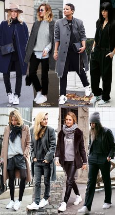 In Fashion: White Sneakers - Blue is in Fashion this Year