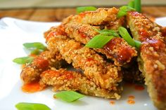 Sesame Eggplant with Sriracha-Honey Drizzle (grain free)