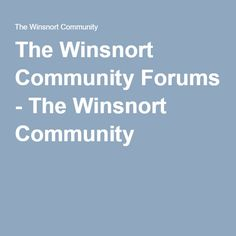 The Winsnort Community Forums - The Winsnort Community