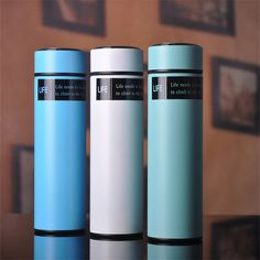 Insulated 7 colors vacuum cup double wall stainless steel Colorful Thermos Bottle with lid kettle FLASK bap-free