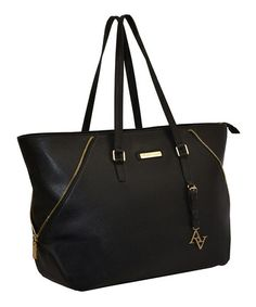 Loving this Black Saffiano Oversize Laptop Tote on #zulily! #zulilyfinds