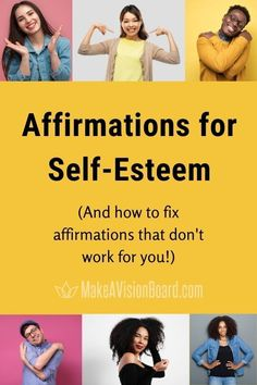 Affirmations for Self-Esteem can be an extremely useful tool for building confidence and belief in yourself. Get started with our great list. And if your affirmations aren't working for you, discover how to fix them!