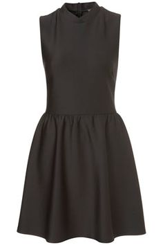 Topshop Scuba High Neck Skater Dress in Black Scuba Dress, Skater Dress, Prom Dress, 15 Dresses, Simple Dresses, Black Bridesmaids, Costume, Poses, Queen