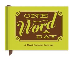 Knock Knock One Word a Day A Most Concise Journal by Knock Knock