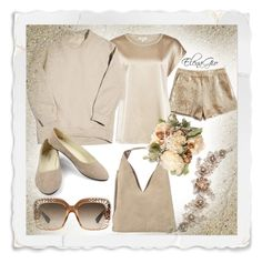 """""""Sand shadows"""" by elenagio ❤ liked on Polyvore featuring Lucky Brand, Gucci, Balenciaga, INZI and Marchesa"""