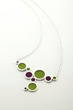 epoxy resin and sterling silver necklace by filip vanas