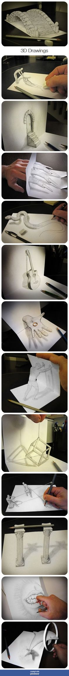 MIND BLOWING~ HOW DO THEY DO THIS    3D Drawings via pindemy.com