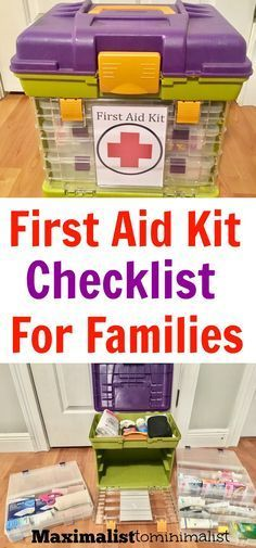 First Aid Kit Checklist for Families to Use When Traveling. Also great for the home!