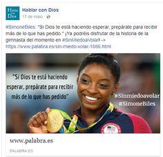 """#SimoneBiles: """"Si Dios te está haciendo esperar, prepárate para recibir más de lo que has pedido."""" ¡Ya podréis disfrutar de la historia de la gimnasta del momento en #SinMiedoaVolar! ->"""