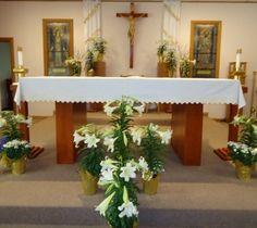 Easter Lilly Cross Altar