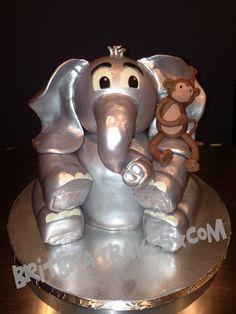 Elephant w/ Monkey Cake By: Brittney Mitchell BritBratBakes.com