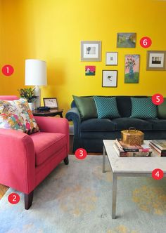 It's one thing to add in a lot of color into a living room