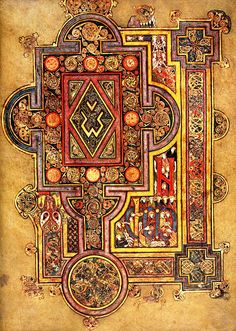 The Book of Kells is an illuminated manuscript Gospel book in Latin, containing the four Gospels of the New Testament together with various. Book In Latin, The Book, Book Of Kells, Celtic Patterns, Celtic Designs, Medieval Manuscript, Medieval Art, Illuminated Letters, Illuminated Manuscript