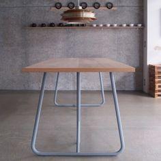 Uma by Kazunaga Sakashita updates  archetypal trestle table. #furnituredesign
