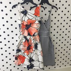 Adorable patterned fit and flare dresses! Perfect for showing off your figure