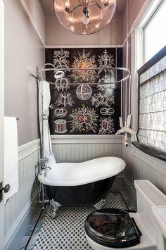 small bathtubs with shower toilet ornate wall window towel rack chandelier victorian bathroom of Fabulously Cute Small Bathtubs with Shower for a Small Bathroom