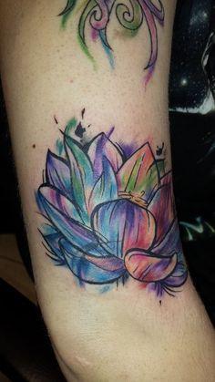 water color lotus flower