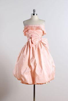 Victor Costa . vintage 1980s dress . 50s by millstreetvintage
