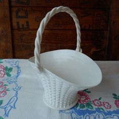 Vintage Easter Basket 1960's Regaline Faux White by MrFilthyRotten, $10.00