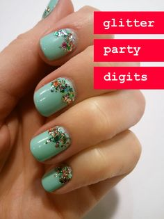 glitter party digits.