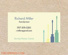 handyman business cards, contractor business cards, electrician business cards, plumber business cards