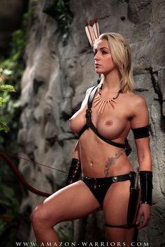Nude Ebony Warrior Woman 114