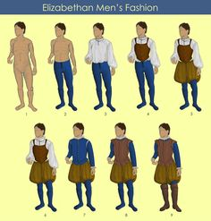 Layers of Elizabethan Men's Fashion by TzarinaRegina on DeviantArt