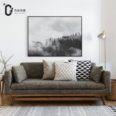 Cheap painting poster, Buy Quality canvas painting directly from China flower canvas Suppliers: Forest Modern style Nordic black and white flower canvas painting poster for living room Giclee Print No Frame
