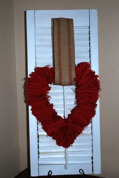 gallamore west: Red Burlap Heart Wreath Tutorial