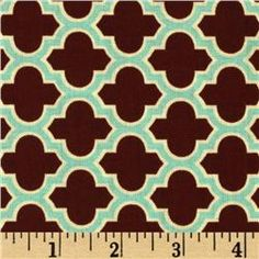 Fabric for the crib skirt and possibly the window treatments. Aviary 2 Lodge Lattice Caramel $8.98 per yard