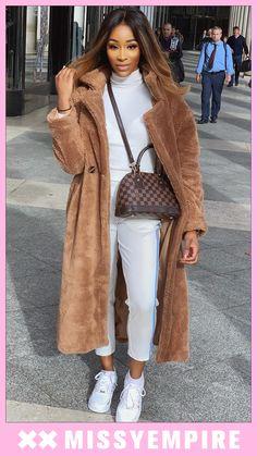 4f35e7d8e1f Kaydence Oversized Brown Teddy Faux Fur Coat