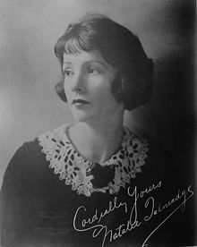 Natalie Talmadge (April 29, 1896 – June 19, 1969) was an American occasional silent film actress who was better known as the sister of her movie star siblings Norma and Constance Talmadge, until her marriage to silent film actor and comedian Buster Keaton. She appeared in D.W. Griffith's Intolerance (1916), and Buster Keaton's Our Hospitality (1923), her final appearance.