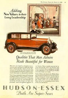 1928 Hudson Ad