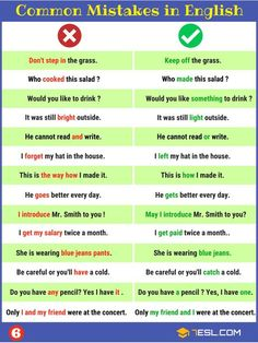 Grammatical Errors: Common Grammar Mistakes in English Grammatical Errors! Learn useful list of common grammar mistakes you might be making - and how to avoid and correct them with example sentences and ESL pri English Grammar Rules, Teaching English Grammar, English Writing Skills, English Vocabulary Words, English Idioms, English Phrases, English Language Learning, English Lessons, Training