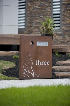 Letterbox by PO Box Designs Post Box, White Led Lights, Reno, White Lead, House Numbers, Bauhaus, House Design, Lettering, Garden Art