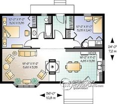 cute tiny house plan by proteamundi