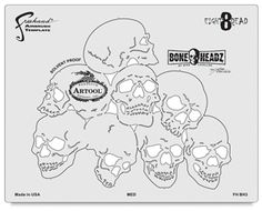 Artool Freehand airbrush templates are an important tool for airbrushers. These patterns, which were designed by Iwata's top artists, provide cutting-edge imagery to give your projects a stylized look. Skull Stencil, Stencil Painting, Skull Art, Stenciling, Paint Stencils, Letter Stencils, Stencil Templates, Tattoo Lettering Fonts, Stencil Lettering