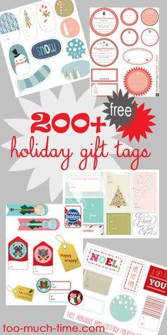Over 200+ Free Printable Gift Tags
