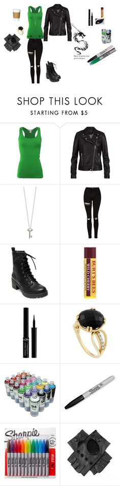 """""""Lilith Lokidottir Outfit #1 - Descendants: The Daughter of Loki"""" by bookprincess-313 on Polyvore featuring Bozzolo, SET, Roberto Coin, Topshop, Madden Girl, Burt's Bees, Giorgio Armani, Monarc Jewellery, Sharpie and Black"""