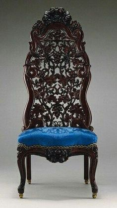 Carved Chair   John Henry Belter And The Art Of Laminated, Carved Victorian  Furniture