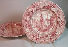 Johnson #brothers historic america pink 2 rim soup #bowls great #condition,  View more on the LINK: http://www.zeppy.io/product/gb/2/121584590888/