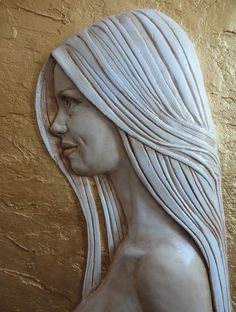Wood Carving Faces, Tree Carving, Wood Carving Patterns, Wood Carving Art, Wood Art, Wood Carvings, Wood Sculpture, Wall Sculptures, Plaster Art