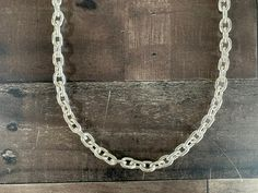 Solid Sterling Silver Men's Oval Cable Chain Necklace #linkchain #curbchain #cubanlink Native American Rings, American Indian Jewelry, Silver Necklaces, Sterling Silver Bracelets, Fossil Jewelry, Elephant Bracelet, Silver Horse, Silver Cuff, Cable