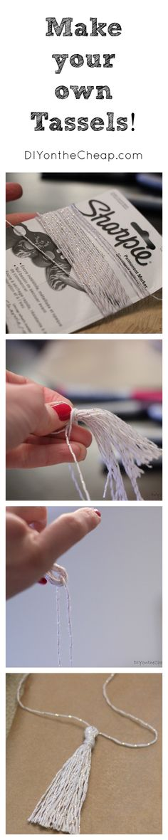 Make your own tassels! They are simple to make and can be used for all sorts of fun purposes, from home decor to holiday decorating or even embellishing gift packages!